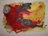 Invasione, Acrylmalerei, Grau, Weiß