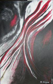 Grau, Rot schwarz, Abstrakt, Weiß