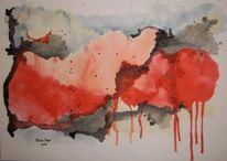 Abstrakt, Grau, Farben, Wolken