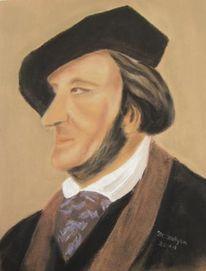 Portrait, Hut, Grüner hügel, Villa wahnfried