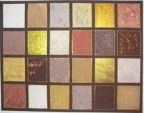 Braun, Gold, Abstrakt, Bronze