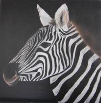 Pastellmalerei, Schwarz weiß, Afrika, Portrait