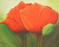 Blüte, Braun, Zweisamkeit, Grün