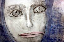 Berlin, Blau, Portrait, Skizze