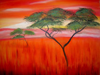Afrika, Malerei, Landschaft