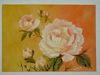 Rose, Blumen, Malerei, Stillleben