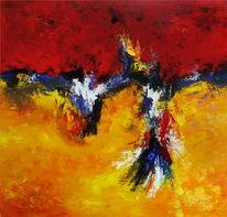 Abstrakt, Gemälde, Modern, Acrylmalerei