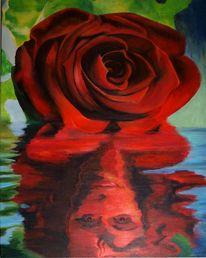 Blumen, Rose, Malerei, Pflanzen