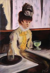 Französisch, Degas, Frankreich, Cafe