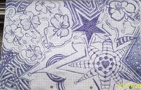 Blumen, Stern, Fantasie, Abstrakt