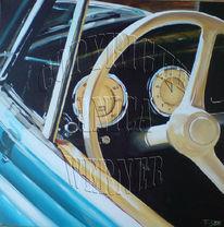 Acrylmalerei, Auto, Oldtimer, Technik
