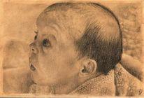 Portraitzeichnung, Portrait, Baby, Auftragsarbeit