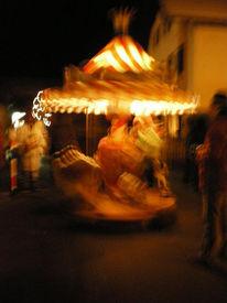 Nacht, Jahrmarkt, Karussell, Stimmungsvoll