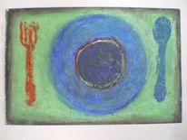 Mahlzeit, Pastellmalerei, Suppe, Stillleben