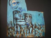 Kubismus, Picasso, Archaisch, Blau