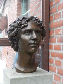 Skulptur, Kopf, Porträtplastik, Bronze