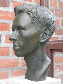 Porträtplastik, Bronze, Plastik, Figural