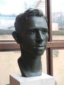 Porträtplastik, Portraitplastik, Bronze, Plastik