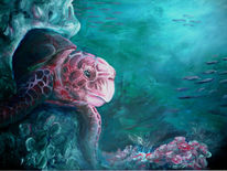 Wasser, Rot, Meer, Schildkröte
