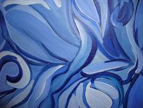 Formen, Schwingung, Weiß, Blau
