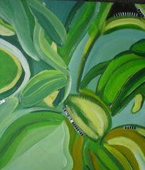 Urwald, Weiß, Gelb, Grün