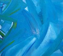 Blau, Mischmasch, Malerei, Abstrakt