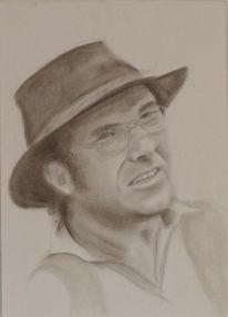 Portrait, Skizzenbuch, Bleistift und kohle, Zeichnungen