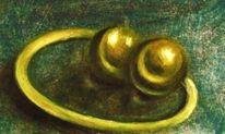 Malerei, Stillleben, Gold