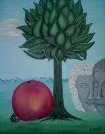 Adam und eva, Apfel, Der anfang, Malerei