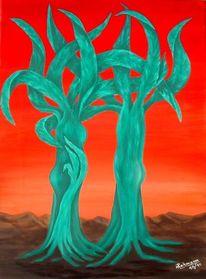 Surreal, Nachwuchs, Baum, Pflanzen