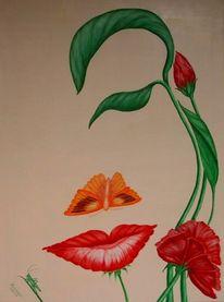 Blumen, Gesicht, Natur, Malerei