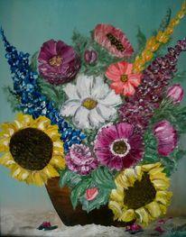 Blumen, Rustikal, Malerei, Blumenstrauß