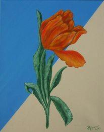 Blumen, Tulpen, Blüte, Malerei