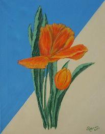 Blumen, Blüte, Tulpen, Malerei