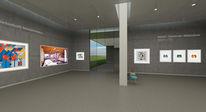 Virtuell, Malerei, Museum, Plastik