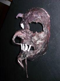 Maske, Gibs, Schädel, Kunsthandwerk