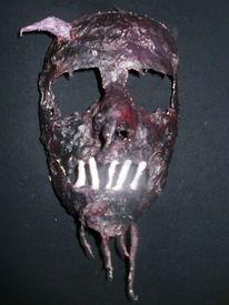 Schädel, Maske, Gibs, Kunsthandwerk