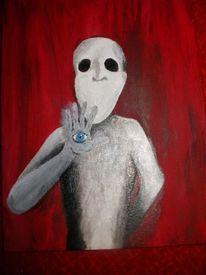 Drogen, Psychische anstalt, Schädel, Malerei