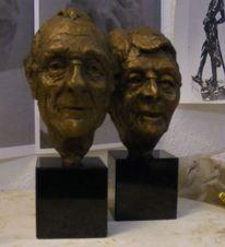 Ehe, Portrait, Skulptur, Glück