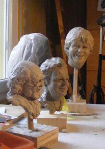 Skulptur, Gesicht, Blickkontakt, Kopf