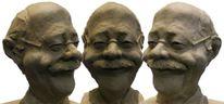 Lustig, Erfolgreich, Skulptur, Gesicht