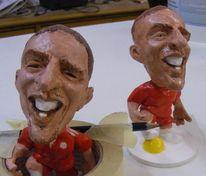 Fußball, Gesicht, Freude, Keramik