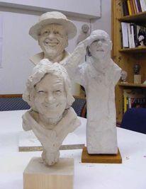 Mann, Portrait, Beton, Figural