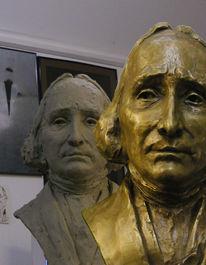 Geschenk, Bronze, Beobachtung, Skulptur