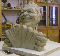 Kopf, Portrait, Freude, Keramik