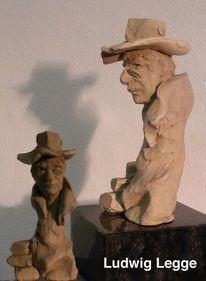 Gips, Skulptur, Portrait, Gerissen