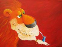 Löwe, Malerei, Tiere,