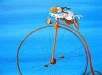 Fahrrad, Vogel, Rad, Tiere