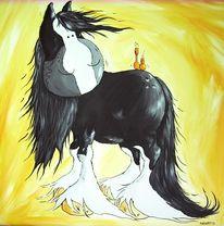 Kaltblut, Pferde, Shire, Malerei