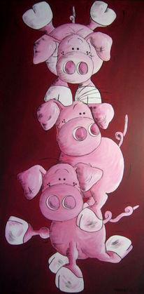 Schwein, Tiere, Schweichen, Malerei